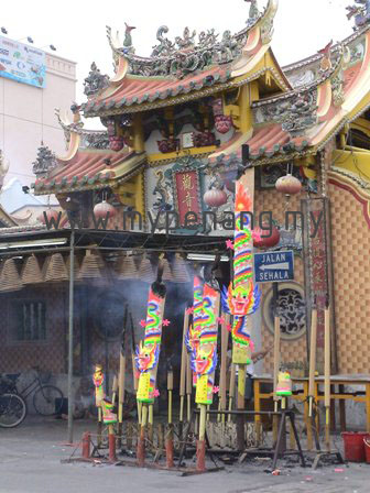 Festival of the Nine Emperor Gods at temple in Penang